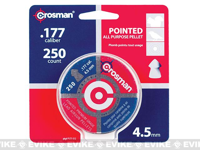 Crosman Pointed 7.4gr .177 Cal. Pellets 250ct (FOR AIRGUN USE ONLY)