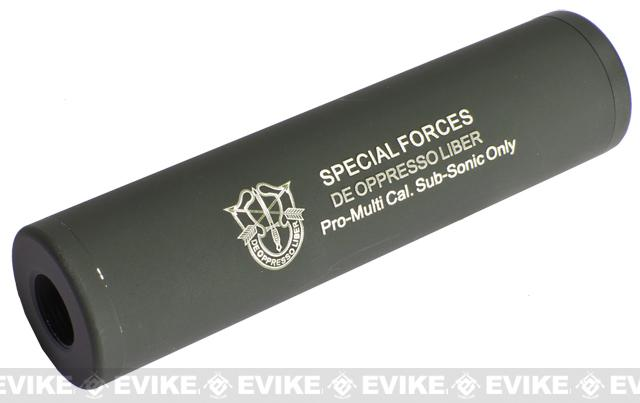 Matrix Op. High Speed Light Weight Airsoft Mock Silencer / Barrel Extension - 30 X 110mm (SPECIAL FORCE 2) - OD