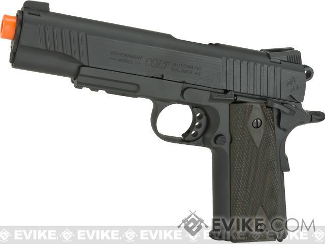 Pre-Order ETA November 2016 Colt 1911 Rail Gun Full Metal CO2 Powered Blowback Airsoft Pistol - Black