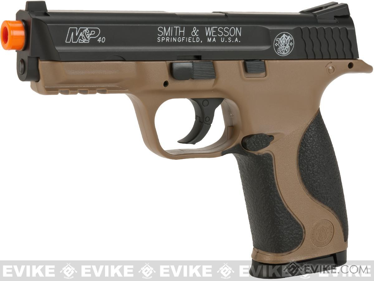 Smith and Wesson M&P40 CO2 Powered Non-Blowback Airsoft Pistol - Dark Earth