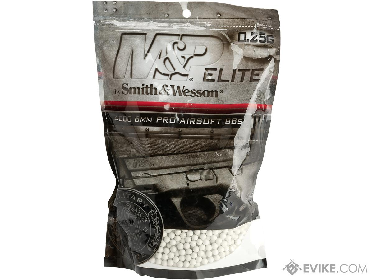 Smith and Wesson M&P Match Grade .25g Airsoft BBs - White (4000 Rounds)