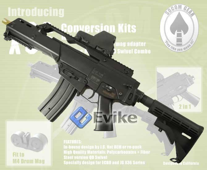 Matrix Magwell Conversion Kit for G36 Airsoft AEG to use M4 / M16 Mag