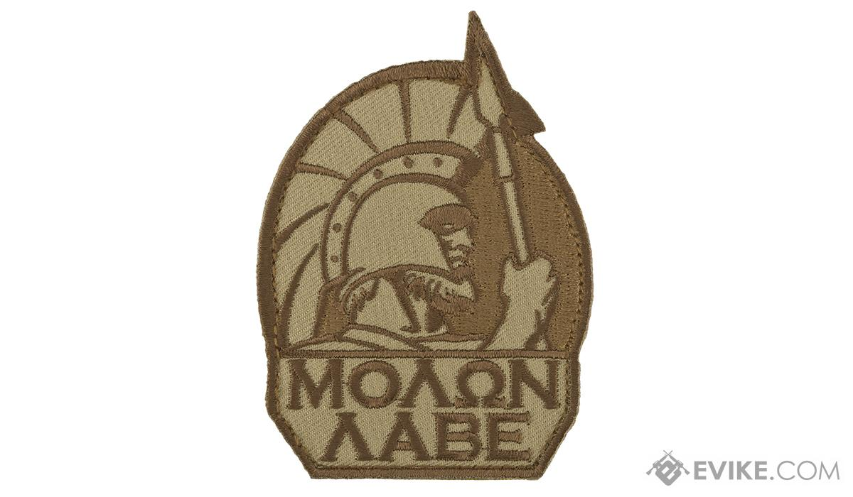 Mil-Spec Monkey Molon Labe Morale Patch (Color: Desert)