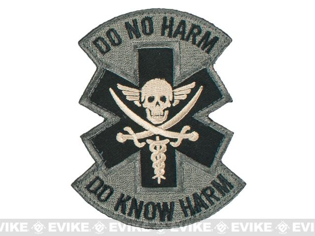 Mil-Spec Monkey Do No Harm - Pirate Hook and Loop Patch - ACU
