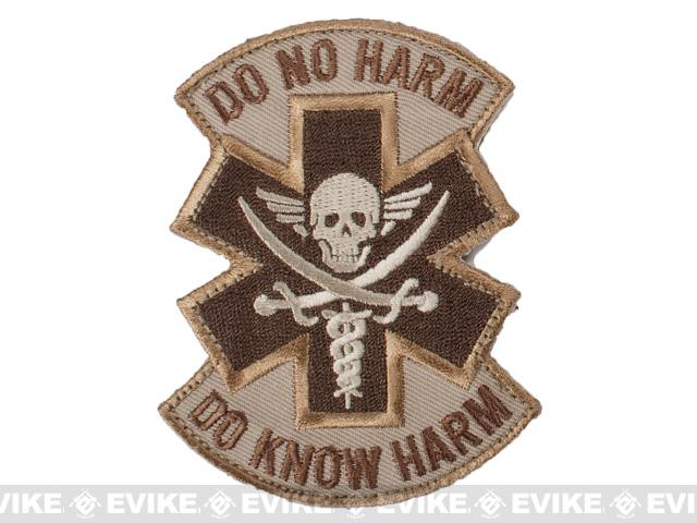 Mil-Spec Monkey Do No Harm - Pirate Hook and Loop Patch - Desert