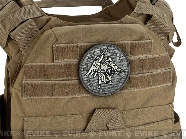 Mil-Spec Monkey Saint Michael Hook and Loop Patch - ACU