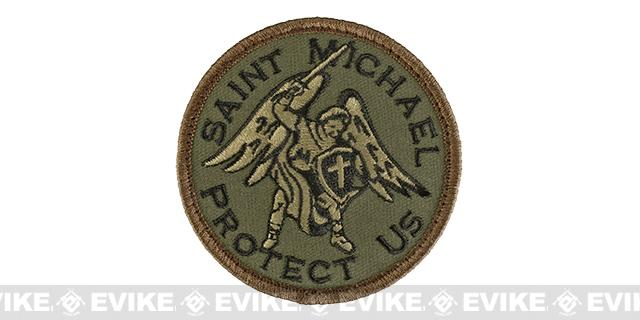 Mil-Spec Monkey Saint Michael Hook and Loop Patch - Forest