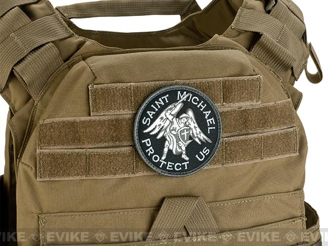 Mil-Spec Monkey Saint Michael Hoook and Loop Patch - SWAT