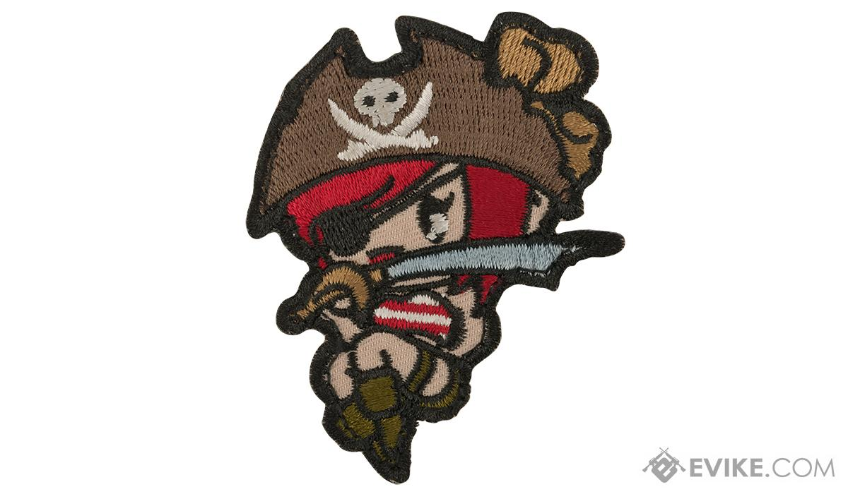 Mil-Spec Monkey Pirate Girl Morale Patch (Color: High Contrast)