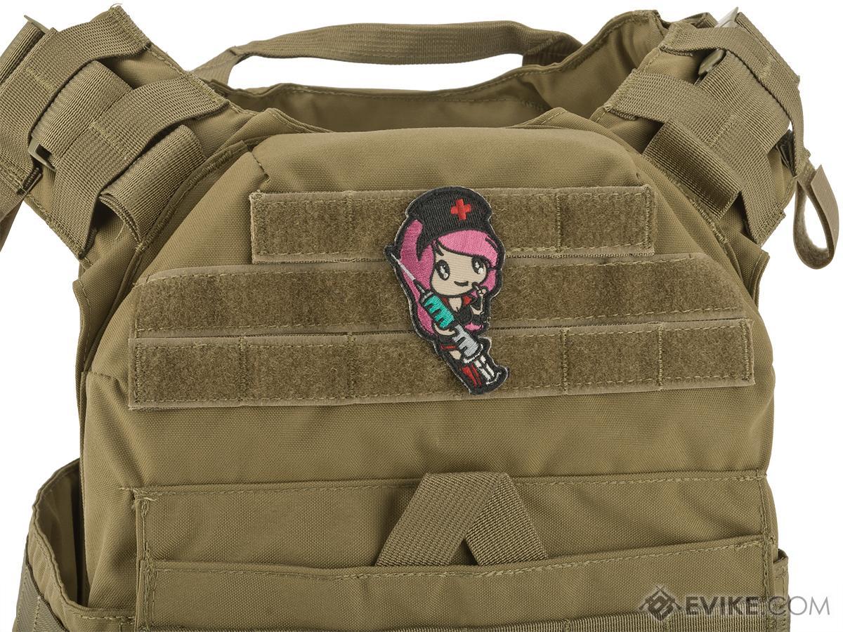 Mil-Spec Monkey Nurse Girl Morale Patch (Color: Gothy)