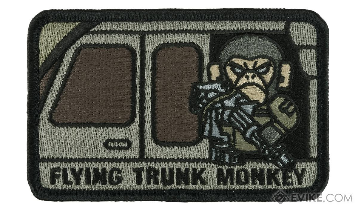 Mil-Spec Monkey Tactical Trunk Monkey Hook and Loop Patch (Color: ACU)