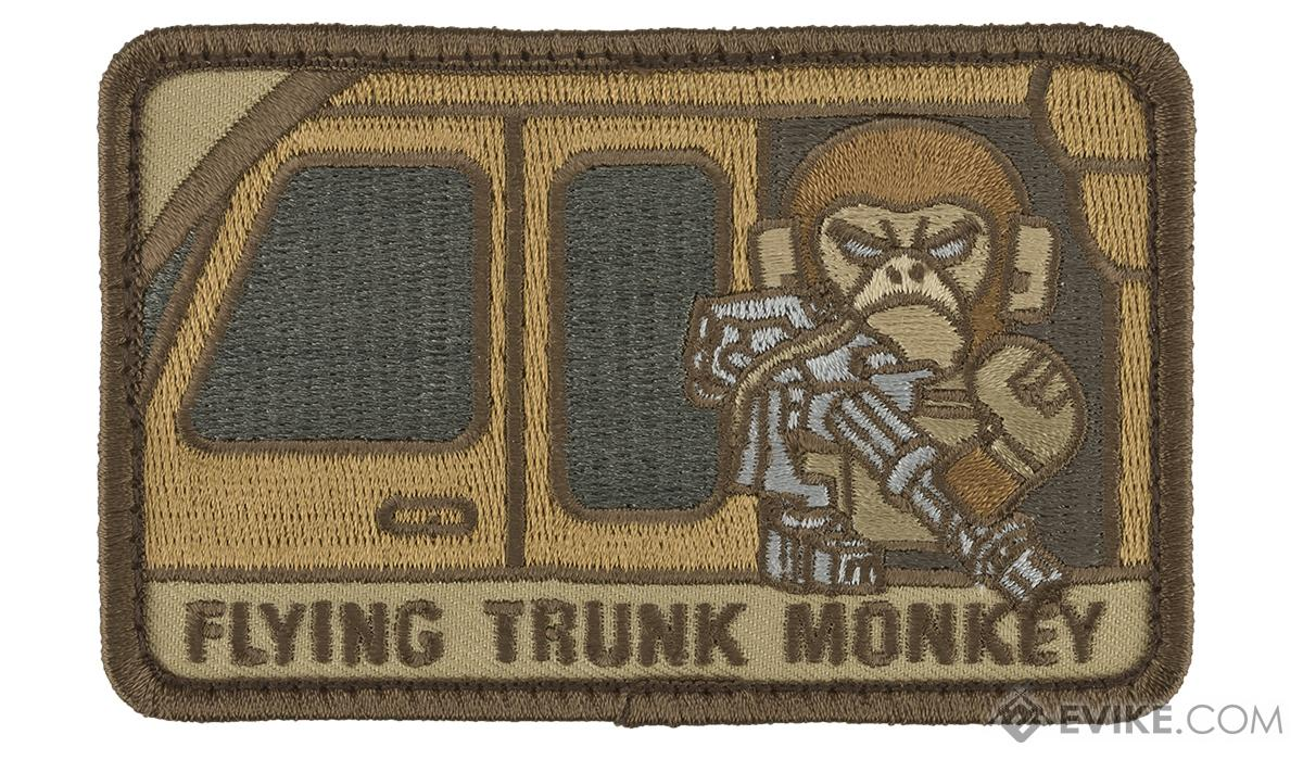 Mil-Spec Monkey Tactical Trunk Monkey Hook and Loop Patch(Color: Desert)