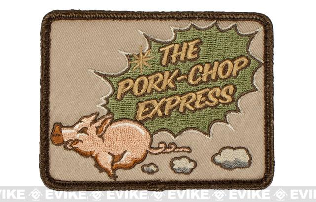 Mil-Spec Monkey Pork Chop Express Hook and Loop Patch - Arid