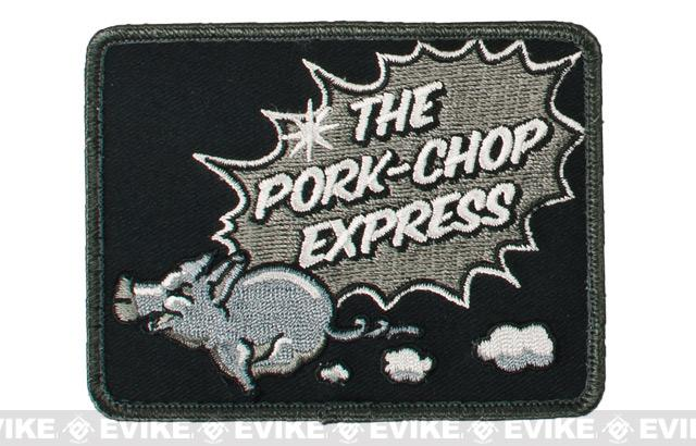 Mil-Spec Monkey Pork Chop Express Hook and Loop  Patch - SWAT