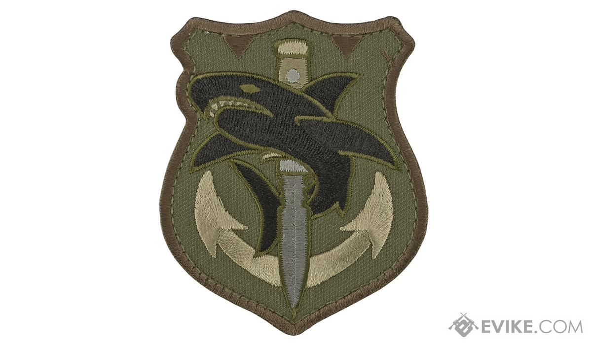 Mil-Spec Monkey Tactical Shark Morale Patch (Color: Forest)