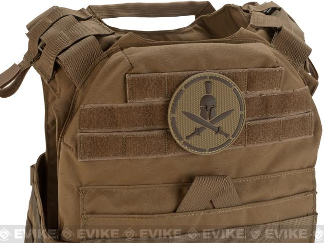Mil-Spec Monkey Spartan Helmet PVC Hook and Loop Patch - Desert