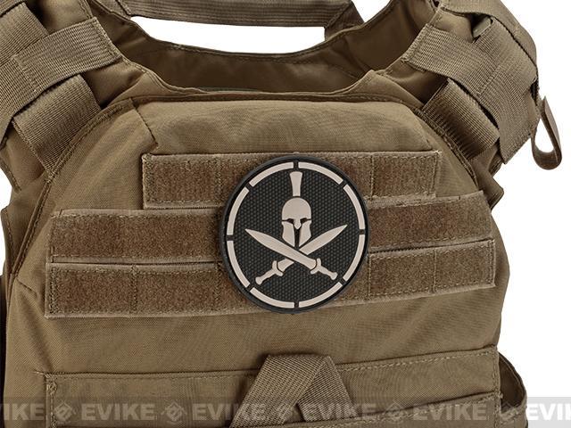 Mil-Spec Monkey Spartan Helmet PVC Hook and Loop Patch - SWAT