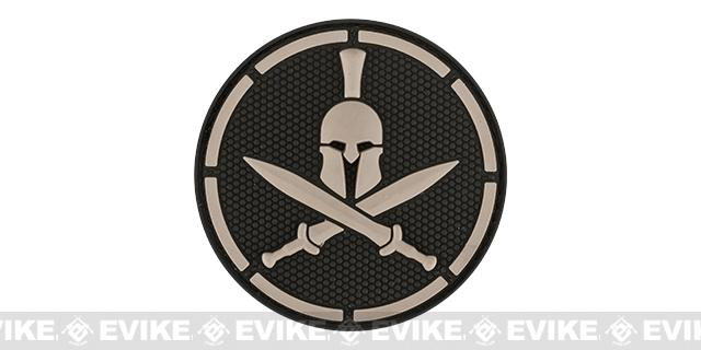 Mil-Spec Monkey Spartan Helmet PVC Hook and Loop Patch - SWAT