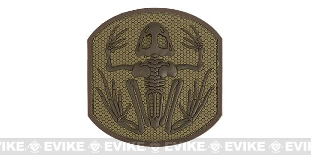 Mil-Spec Monkey Skull Frog PVC Hook and Loop Patch - Desert
