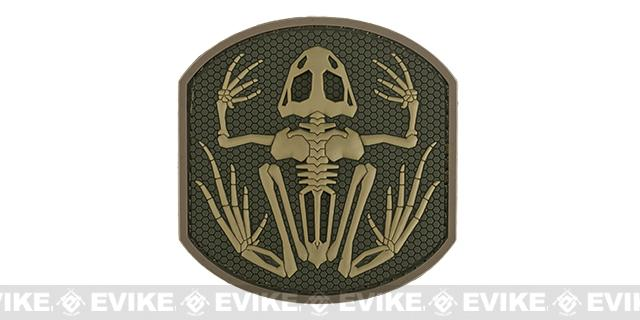Mil-Spec Monkey Skull Frog PVC Hook and Loop Patch - Multicam