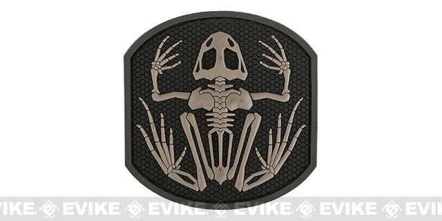 Mil-Spec Monkey Skull Frog PVC Hook and Loop Patch - SWAT