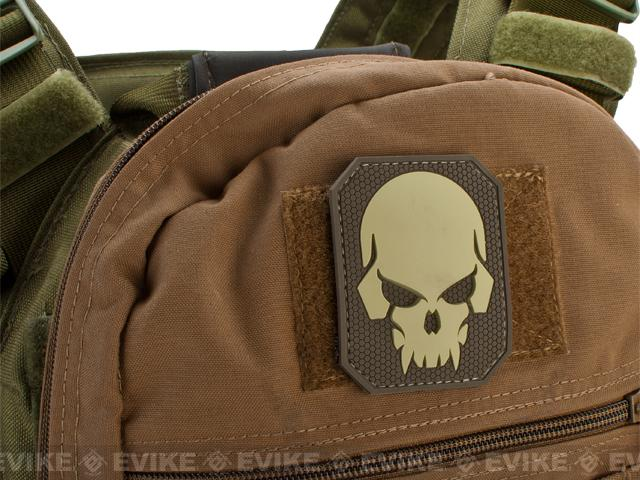 Mil-Spec Monkey Pirate Skull - Large PVC Patch - Desert