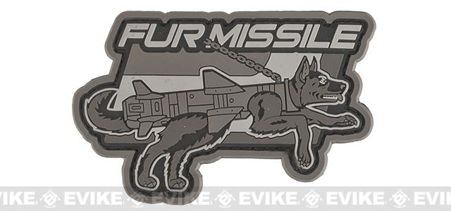Mil-Spec Monkey Fur Missile PVC Morale Patch - Urban