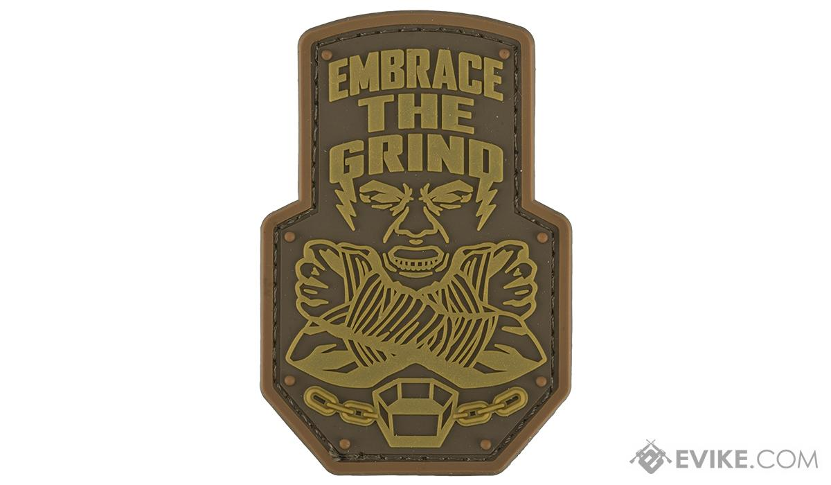 Mil-Spec Monkey Embrace the Grind PVC Morale Patch (Color: Bronze)