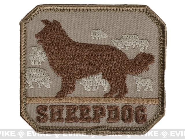 Mil-Spec Monkey Sheepdog Hook and Loop Patch - Desert