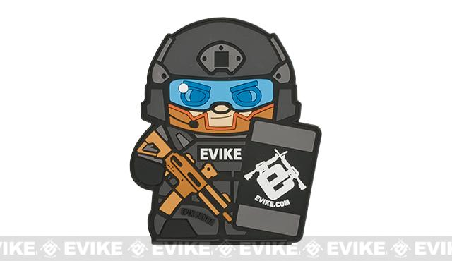 Epik Panda Evike Matt PVC Rubber Hook and Loop Morale Patch - Urban