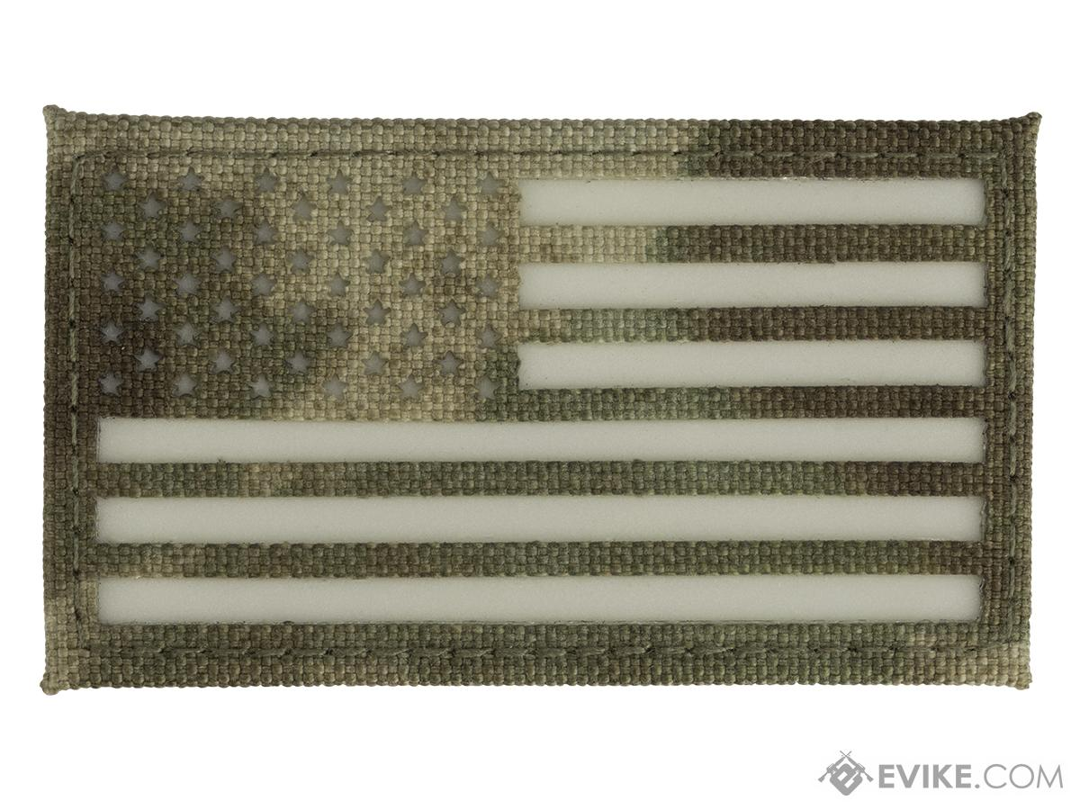 Glow-in-the-Dark American Flag Patch (Color: Camo)