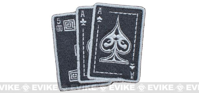 5.11 Tactical Ace in Hand Embroidered Hook & Loop Morale Patch - Black