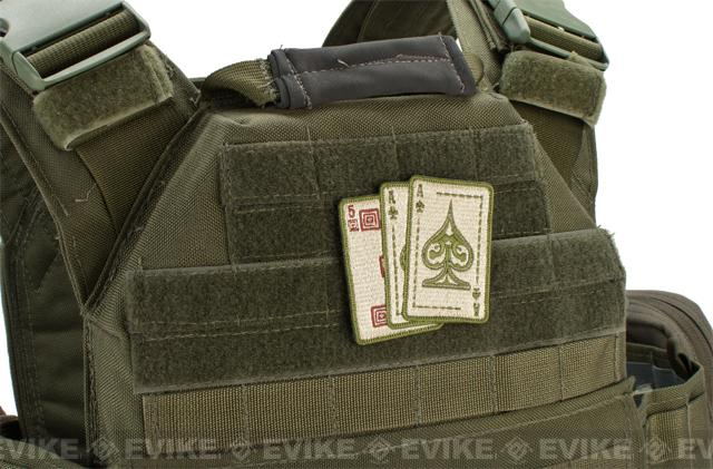 5.11 Tactical Ace in Hand Embroidered Hook & Loop Morale Patch - Sand