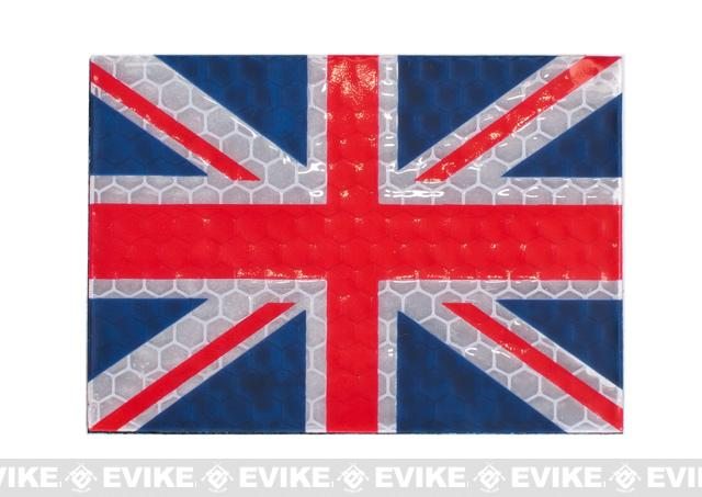 Reflective UK Flag Patch - Full Color
