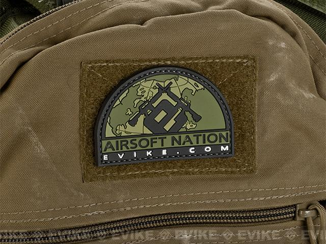 Evike.com Airsoft Nation II PVC Morale Patch - OD Green