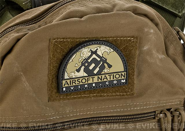Evike.com Airsoft Nation II PVC Morale Patch - Tan