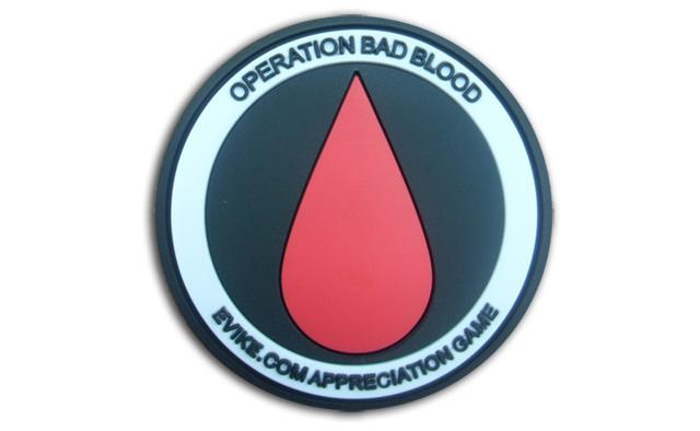 Operation Bad Blood IFF Hook and Loop Morale Patch - Evike East Coast Appreciation Game