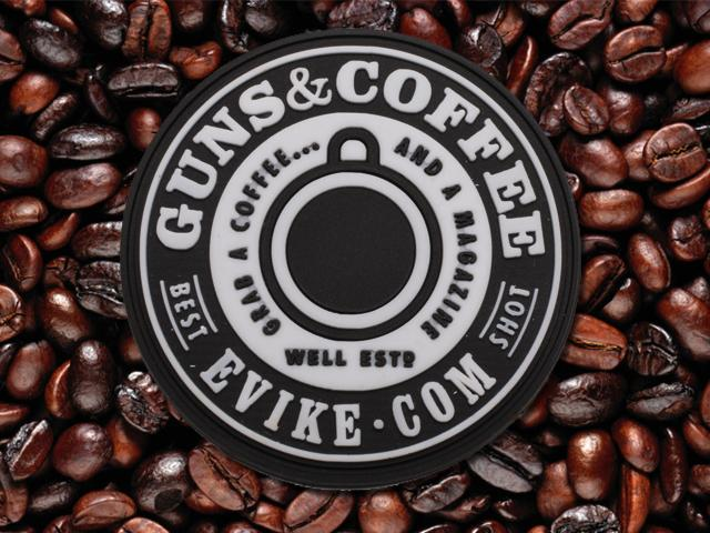 Evike.com Guns & Coffee Brand PVC Hook & Loop Patch - SWAT