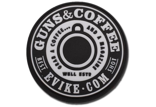 Evike.com Guns & Coffee Brand PVC Hook & Loop Patch (Color: SWAT)