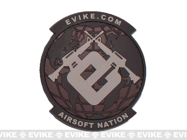 Evike.com Airsoft Nation PVC Morale Patch - Desert