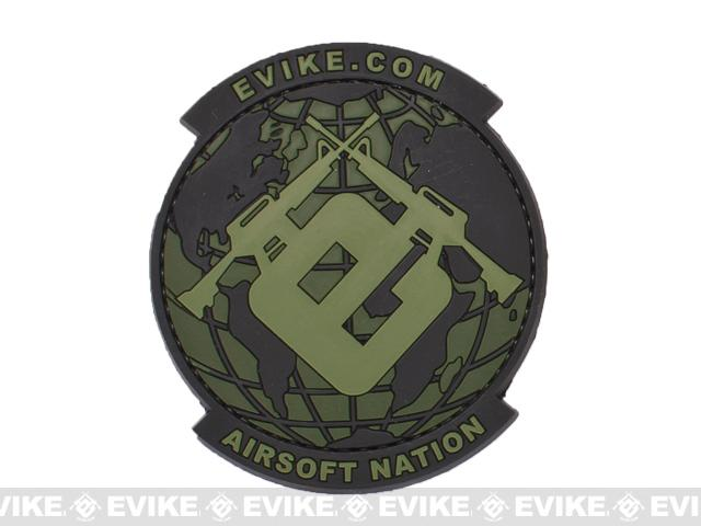 Evike.com Airsoft Nation PVC Morale Patch (Color: OD Green)