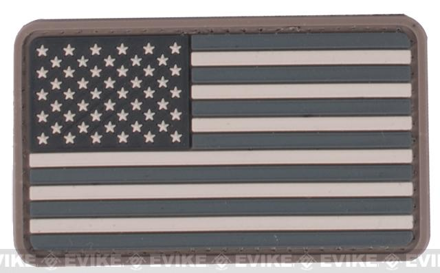 US Flag PVC Hook and Loop Rubber Patch - Regular / SWAT