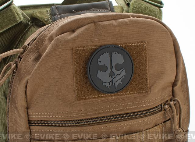 Ghost IFF PVC Patch - Grey / Black