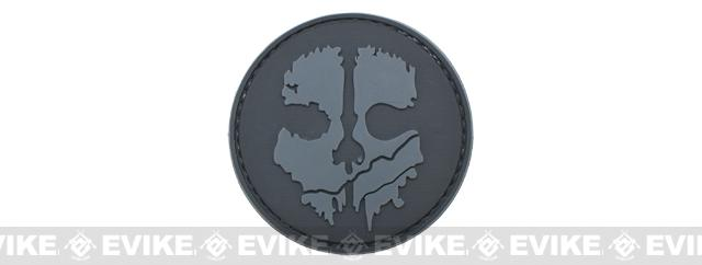 Ghost IFF PVC Velcro Patch - Grey / Black