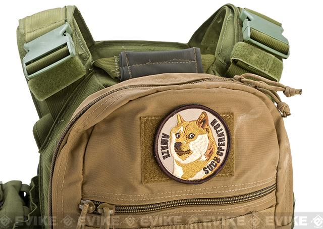 ORCA Industries Doge Such Operator Embroidered Hook and Loop Morale Patch - Arid