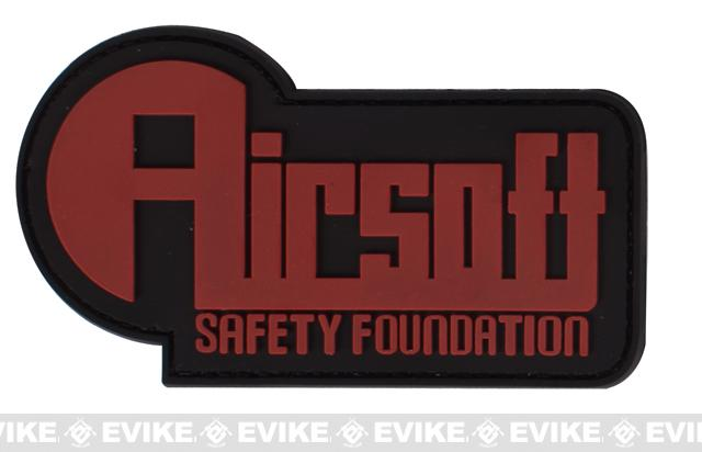PVC Hook and Loop Patch - Airsoft Safety Foundation