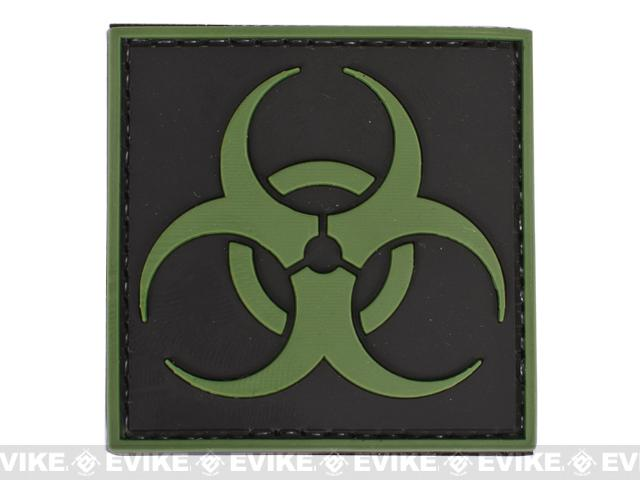 PVC Velcro Patch - Biohazard Symbol