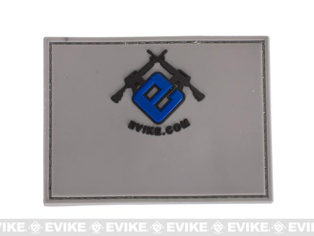 Evike.com Name Tag PVC Hook & Loop Patch - Grey