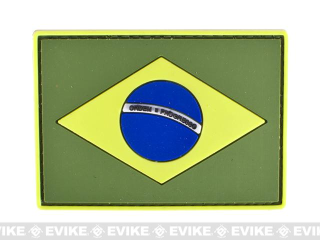 PVC Hook and Loop International Flag Patch (Flag: Brazil)