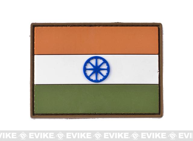 India Flag PVC Hook and Loop Patch